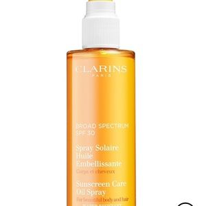 NEW! Clarins Broad Spectrum SPF 30 Sunscreen Oil!